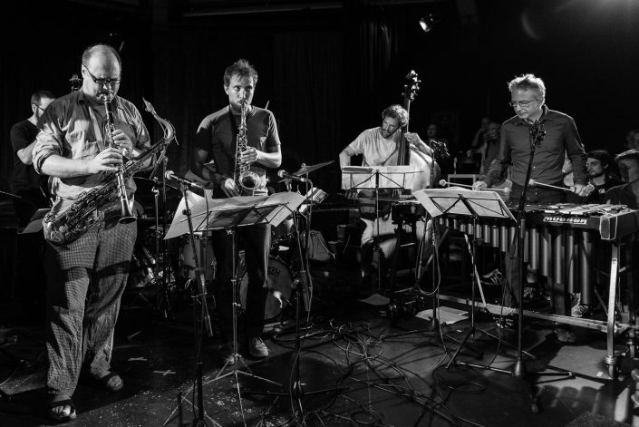 Christopher Dell (vib), Jonas Westergaard (Bass), Pierre Borel (sax-cl)-CHRISTIAN LILLINGERS GRUND