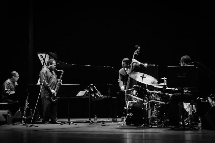 Brian Blade (drums), Danilo Perez (piano), John Patitucci (bass), Wayne Shorter (tenor - soprano sax)-Wayne Shorter Quartett