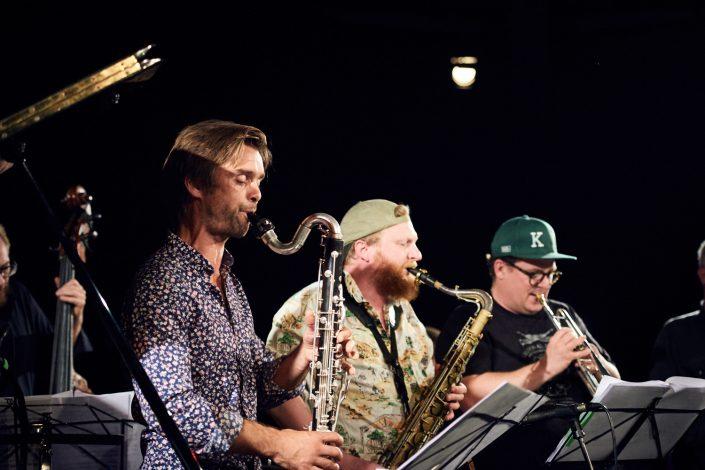 Anders Banke (clar), Ned Ferm (tenorsax), Kasper Tranberg (tp)