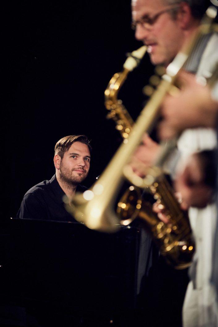 Ludwig Hornung (p), Felix Wahnschaffe (sax)