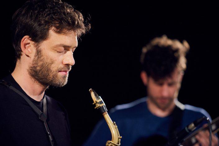 Christian Weidner (sax), Ronny Graupe (git)